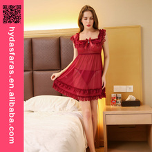 2017 Sexy Babydoll Sexy lingerie Casual Sleepwear Transparent nightwear sexy night dresses