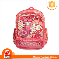 2016 wholesale latest school bags with cartoon picture for girls