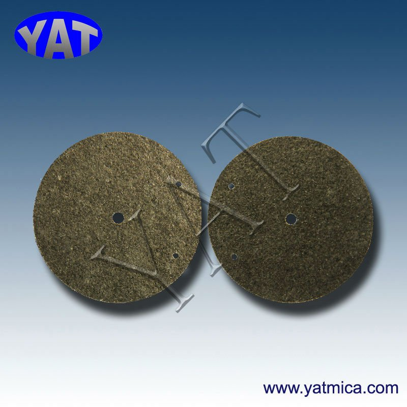 China Manufacturers The phlogopite mica disc washer insulator ready for mica buyers