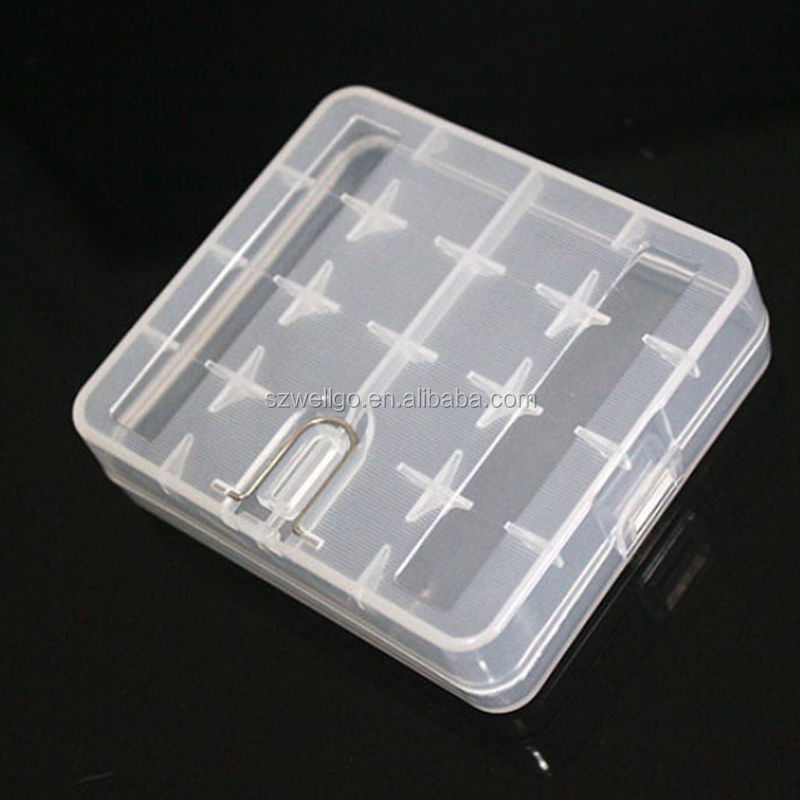 waterproof Portable Plastic 18650 battery holder storage case Carry box for 4x18650 li-ion battery