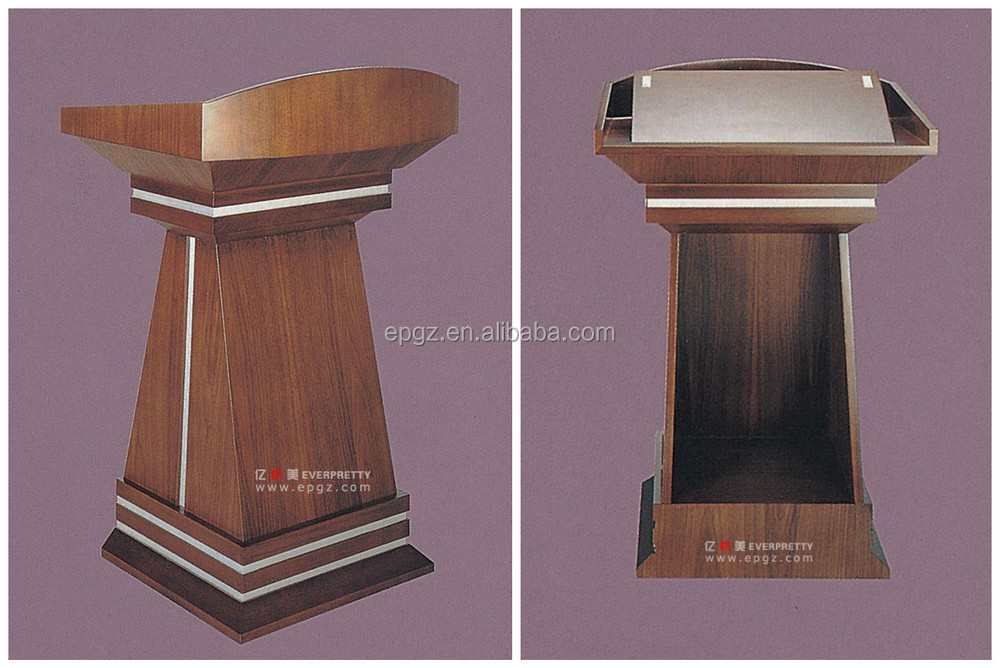 Modern wood furniture church pulpit, acrylic podium pulpit lectern