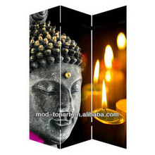 Light up candle Buddha folding screens, room divider