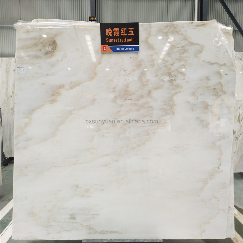 Big Slab Natural Stone Form Sunset Red Jade Marble Slab Polished