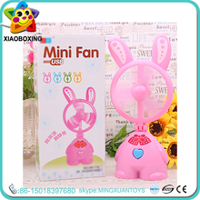 High quality plastic cute rabbit usb mini cooling fan with battery