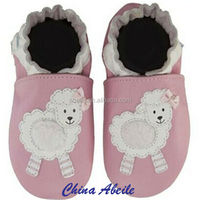 Wholesale china supplier Factory soft sole cow leather New Indoor Slipper baby baba shoes