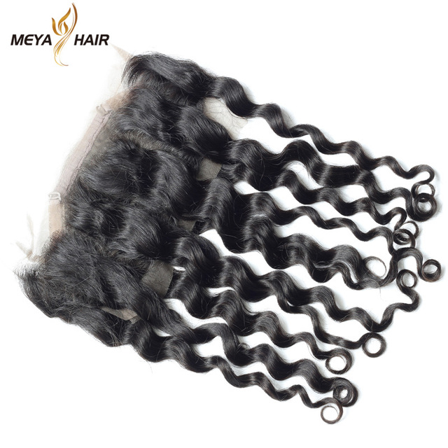 Peruvian make to order raw hair,360 frontal closure loose wave with hair extension packaging