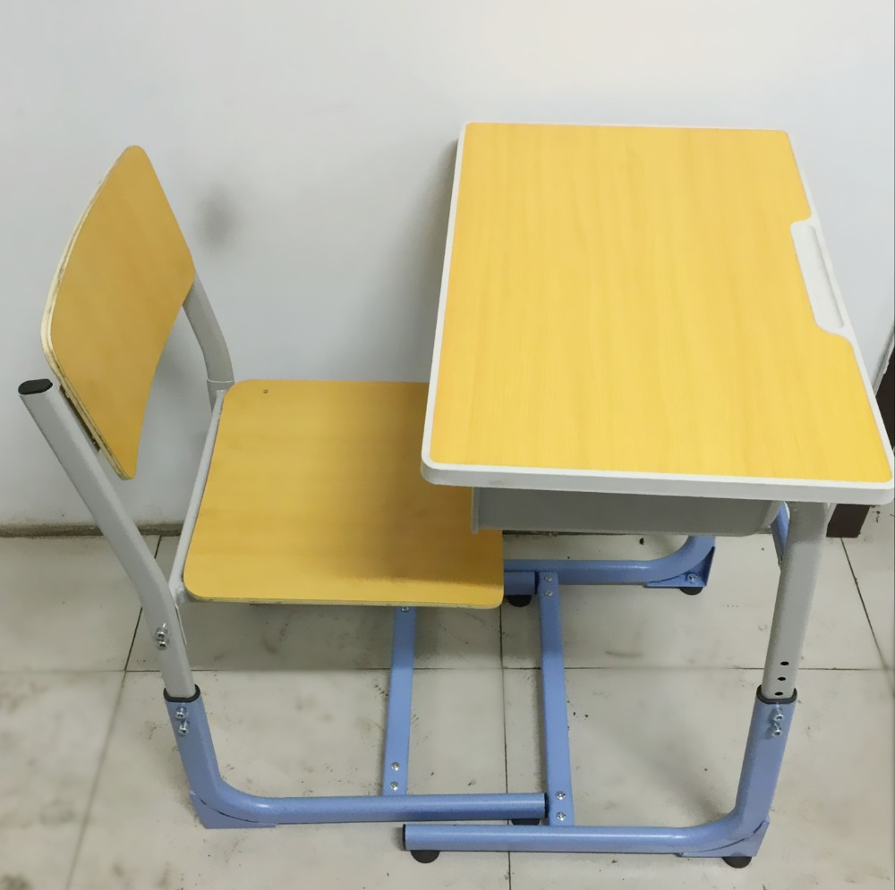 wooden cheap study desks modern attached combo used school tables and chairs