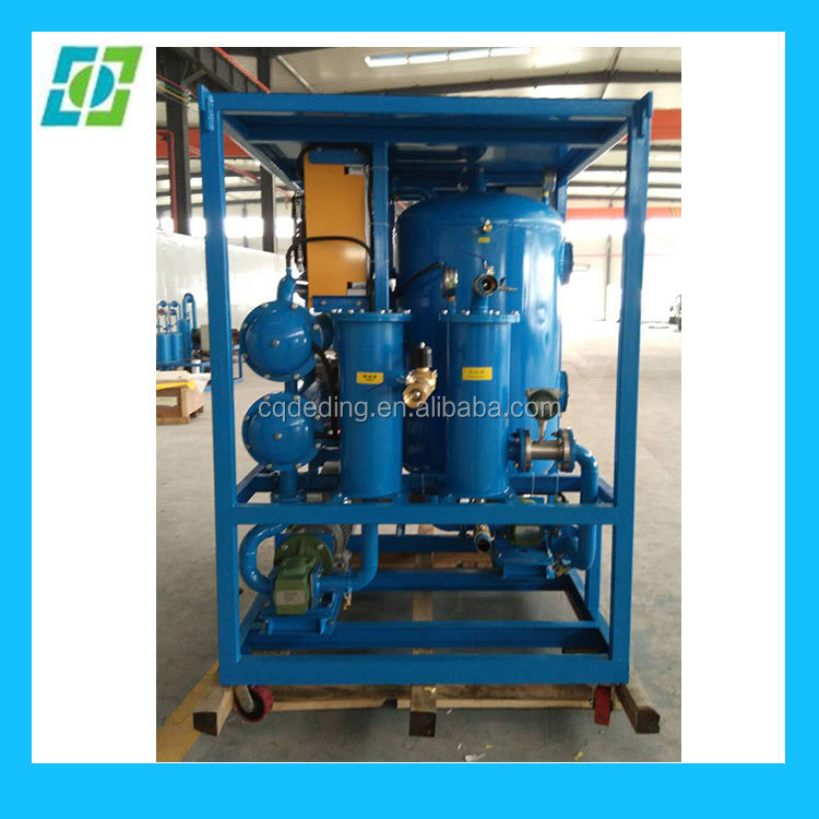 ZYD Double Stage Vacuum Waste Black Power Oil Transformer Oil Maintenance Machine / Transformer Oil Disposal