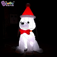 Led inflatable christmas decoration dog, dog toy christmas
