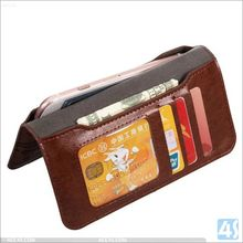 5.8 inch Universal Lovely Design Flip Mobile Cover PU Leather Wallet Bag Case For Smart Cell Phone