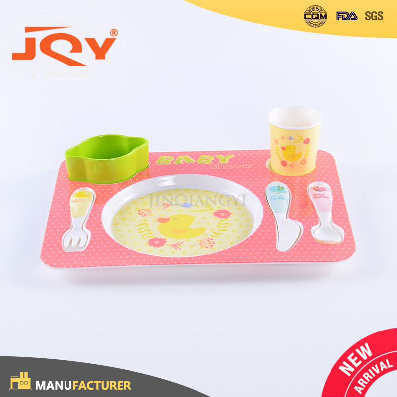Wholesale Top Quality melamine food serving tray with printing for kids