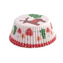Bakest Christmas day design 4.5 inch greaseproof <strong>Paper</strong> Cake Cup with single package