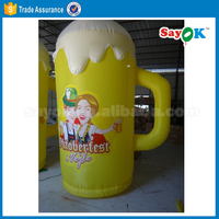 customized inflatable beer can cartoon figure inflatable beer model bottle advertising