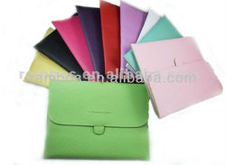 "Multi Color Envelope 10"" PU Leather Macbook Sleeve for ipad 2 3 for Samsung 10.1"