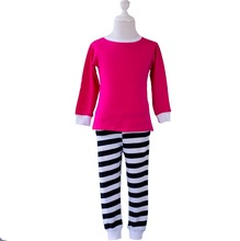 95%cotton and 5%spandex children pajamas set baby girl cute pjs