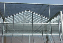 Venlo glass greenhouse multi-span for flowers