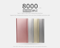 fashion hot selling super slim power bank 8000mAh for mobile