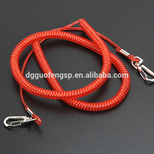 High Tension Safety Diving Tools Coil Spring Tool Fishing Lanyard With Coiled Steel Wire Rope