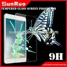 2014 9h explosion-proof clear tempered glass screen protector for ipad4