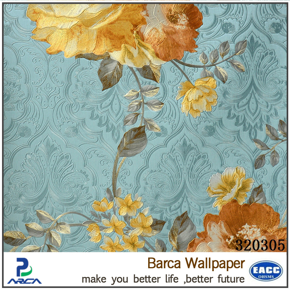 Royal flower nice modern style 3D wall paper for sale