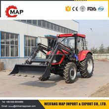 China cheap price agricultural farm tractor 90hp 4x4 WD mini tractors