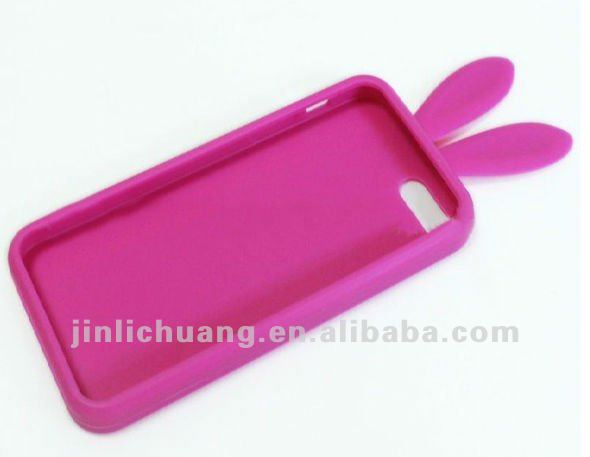 3d silicone rabbit mobile phone case, cellphone case,silicone animal shape phone case