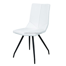 high quality PU leatehr special design ergonomic dining chair with powder coated feet