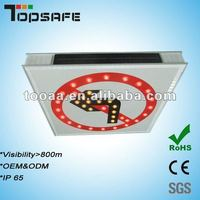 Aluminum LED Solar Traffic Prohibition Sign