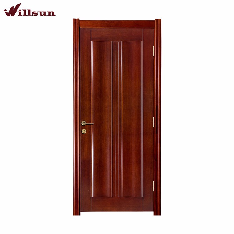 Modern Simplism Style Interior Hotel Room Door With Metal Fitting And Frame 2016