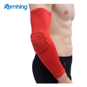 OEM custom protective Sports basketball tennis compression arm sleeve elbow sleeve pad
