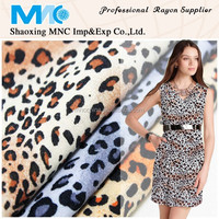 100% spun rayon fabric with floral print from shaoxing MNC