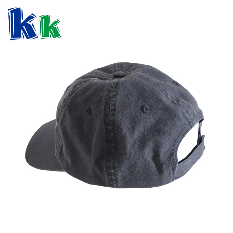 Soft style cap embroidery LOGO Blue color cotton baseball cap
