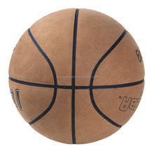 top quality indoor and outdoor real cow leather basketball for match or training
