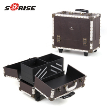 Sunrise Beautiful big PVC Cosmetic Case makeup trolley case box
