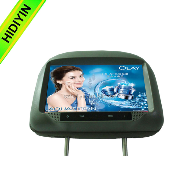 9'' wifi network gps lcd screen car advertising player, cab headrest screen