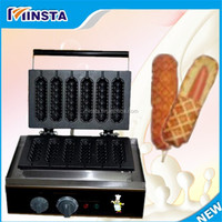 our company want distribut 220V 240V hot dog lolly waffle maker/ waffle machinery hot dog waffle maker roller machine