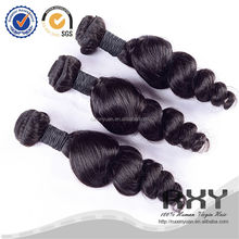 Factory price wet and wavy peruvian human 4 inch hair extension