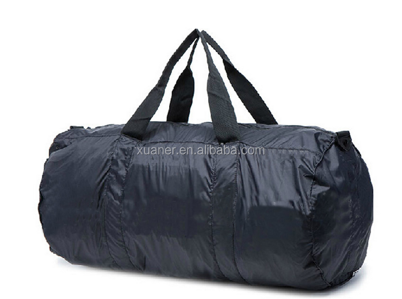 2017 high quality folding waterproof customed polyester round gym duffle bag