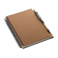 Wholesale a5 kraft cover spiral bound notebook