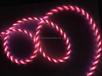 Popular classical flowing led charger usb cable for smart phone