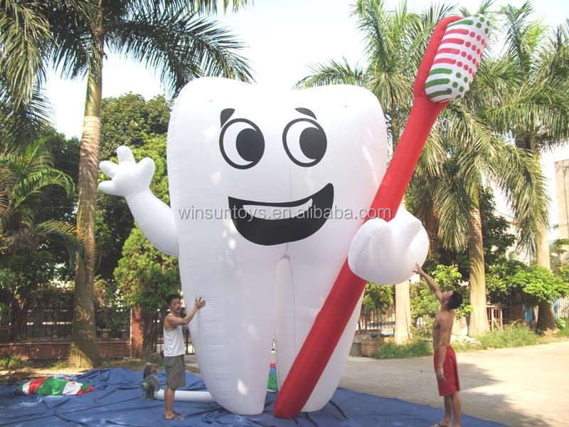 Advertising giant cartoon tooth/Inflatable tooth model