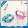 Encai Cheap Transparent PVC Cosmetic Bag Travel Clear PVC Toiletry Bag