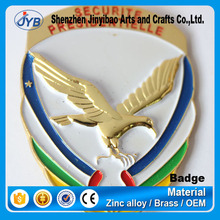 custom color plating oval shaped eagle pin badge for wholesale