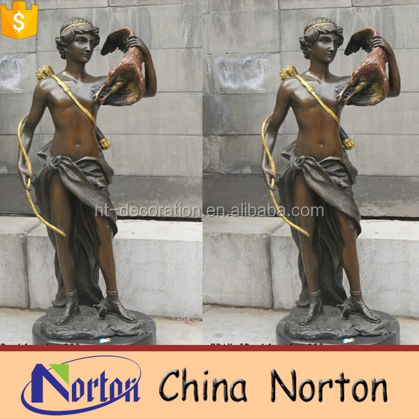 Garden ornaments bronze woman statue NTBH-S677R