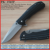 "(PK-1565P) 4"" Black ABS Handle Brushed Blade Folding Pocket Knife"
