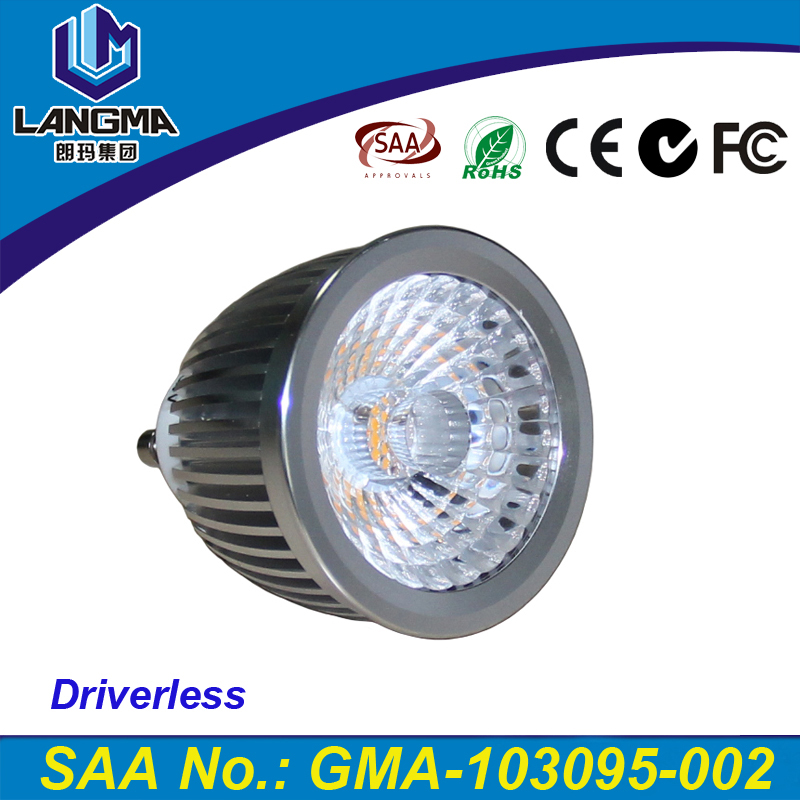 6 Watt gu10 60 degree narrow angle dimmer led gu10 bulbs 2700k 3000k