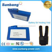 OEM ultra power 7.4v 5000mah li-ion nominal type polymer battery with PCB protect