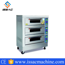 IS-KA-30 durable quality cheap price 3layer 6pans commercial bread electric bread baking oven for sales