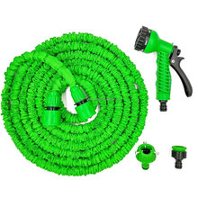 50 Feet Expandable Garden Watering Hose Pipe with 7-way Spray Nozzle Gun for Watering, Car Wash, Pet Washing