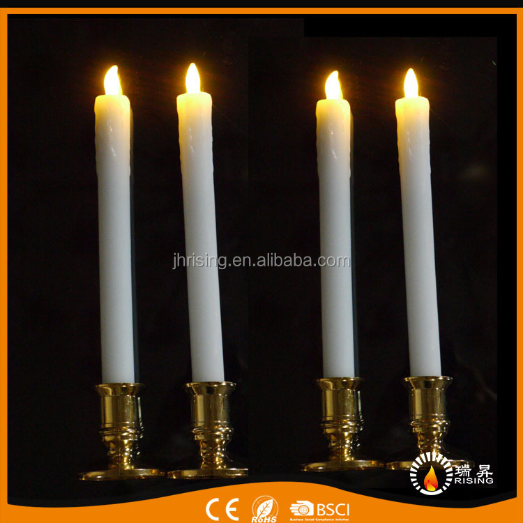 hot selling weddings and Party decorative Paraffin wax pillar LED taper candle